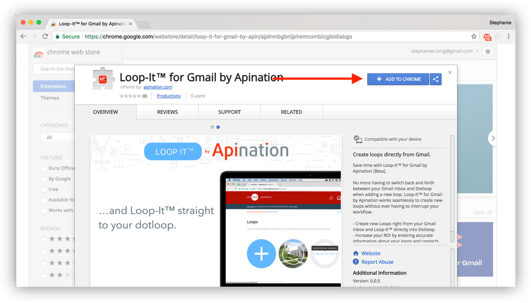 Loop-It™ for Gmail Google Chrome Extension via API Nation